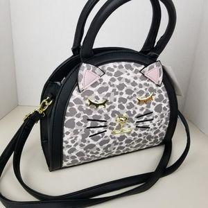 Betsey Johnson kitten satchel crossbody bag